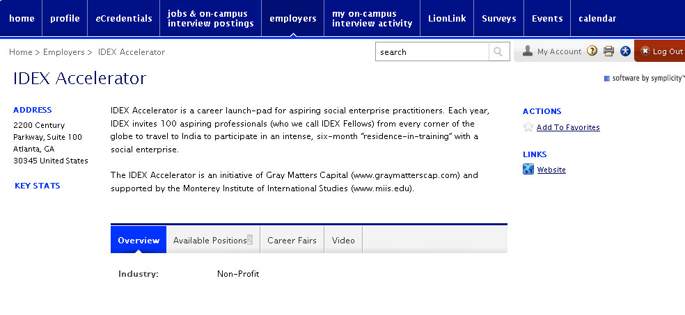 A screenshot of the Nittany Lion Career Network shows a step in the student process.